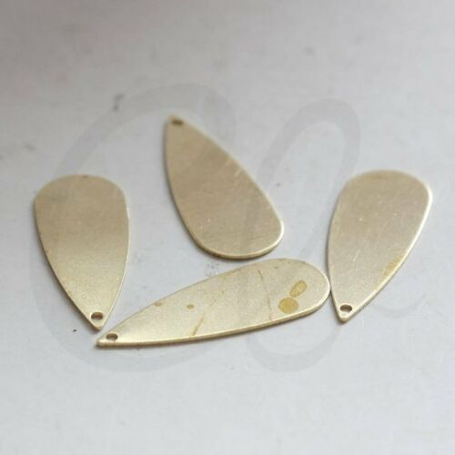 20 Pieces Raw Brass Long Tear Drop Charm 27x10mm 3763C-J-325