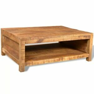 Details About Antique Style Solid Mango Wood Coffee Table With Compartment Unique Dining