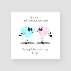 Personalised Handmade Funny Valentine S Day Card Boyfriend Girlfriend Quartz Ebay