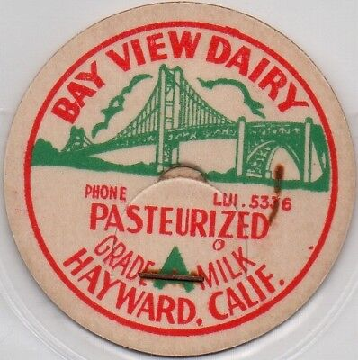 5336 Milk Bottle Cap Bay View Dairy PHONE LUI Hayward California