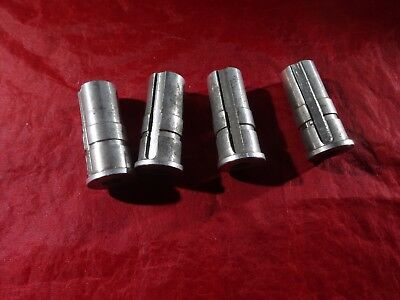 Set of 4 NOS Steel Caster RETAINER//INSERT socket wheel stem wheel