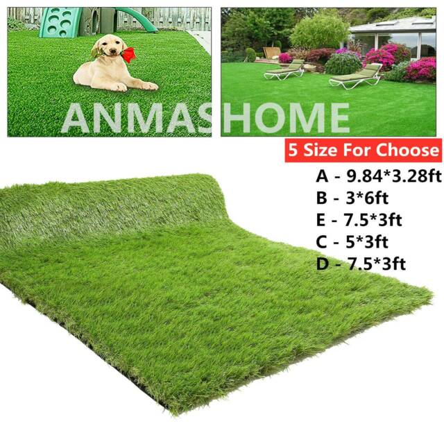 Realistic Synthetic Indoor Outdoor Artificial Turf Grass Carpet W Rubber 90 Sq For Sale Online Ebay