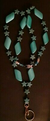 Blue Acrylic Beads LMA 14 Beaded Cardholder
