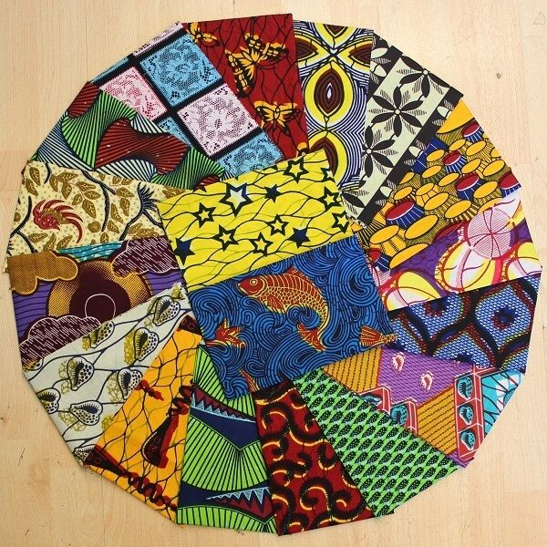 African Cotton Wax Print Fabric *Fat Quarter Bundles* Crafting-Patching-Quilting