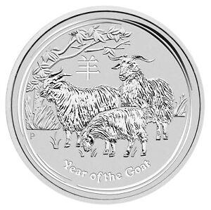 Lot of 5 - 2015 1oz Australian Silver Goat .999 Fine BU