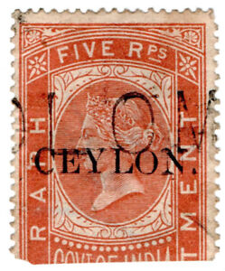 I-B-Ceylon-Telegraphs-Ceylon-on-India-5R-OP