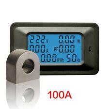 New Ac Watt Transformer Meter Screen Digital Lcd Panel Q Monitor Voltage Power