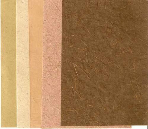 Goldline 5er Pack Bastelpapier Set Nr 129 brown 17x13 cm Strukturpapier 5 Bögen
