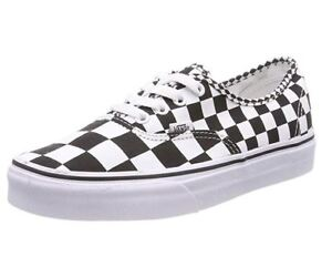 677120f96a708a Image is loading Vans-Authentic-Mix-Checkerboard-Shoe-Black-White-Men-