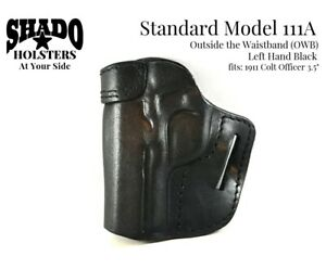 SHADO Leather Holster Model 111A Left Hand Black OWB fits Colt Officer 3.5""