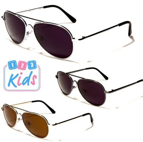 Girls Kids Children Aviator Sunglasses 8-12 Years Old Boys