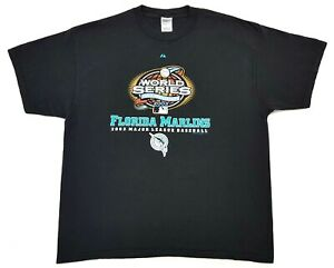 Vintage-Florida-Marlins-World-Series-2003-Tee-Black-Size-XL-Mens-T-Shirt
