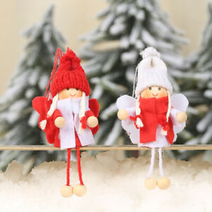 2Pcs-Christmas-Tree-Hanging-Angel-Wing-Crafts-Wooden-Ornaments-Party-Decorations