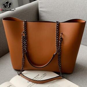 Casual-Handbags-Women-Designer-Chain-Shoulder-Purse-Leather-Large-Tote-Bag