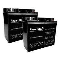 Powerstar 12 Volt 18 Ah Rechargeable Battery With Nuts & Bolts Included