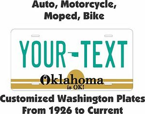 Oklahoma 1940 License Plate Personalized Custom Auto Bike Motorcycle Moped