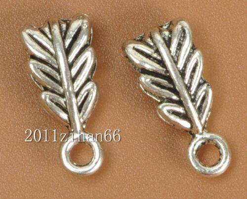 50pcs  Tibetan Silver Connectors Bail Beads fit necklace Pendants 14mm B3482