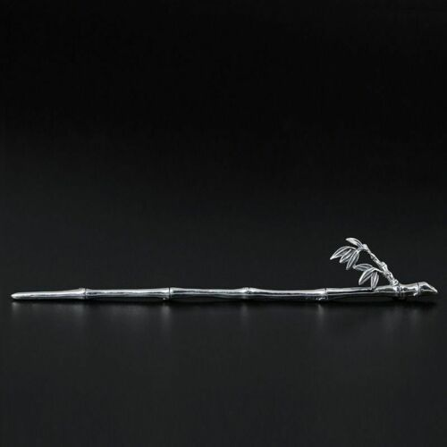 Handmade Hairpins 925 Sterling Silver Bamboo Sticks Long Hair Jewelry For Women