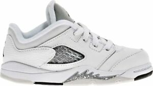 d0461024395df3 Nike Toddlers  Jordan 5 Retro Low GT Shoes NEW AUTHENTIC White Grey ...