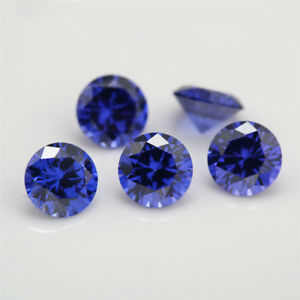 0 8 10 0mm Round Tanzanite Blue Aaaaa Loose Cz Stone Cubic