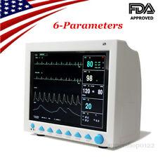 Portable Medical Patient Monitor 6 Parameter Icu Ccu Vital Sign Cardiac Machine