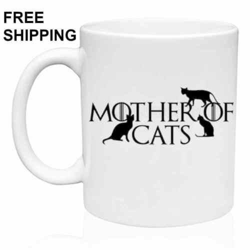 MOTHER OF CATS Christmas Gift Coffee Game of Thrones Mug 11 oz Birthday