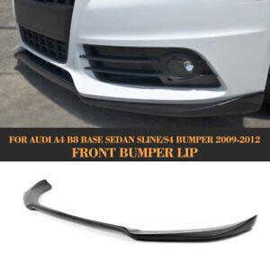 Unpainted-Car-Front-Lip-Chin-Spoiler-Fit-for-Audi-A4-B8-Sline-Bumper-2009-12