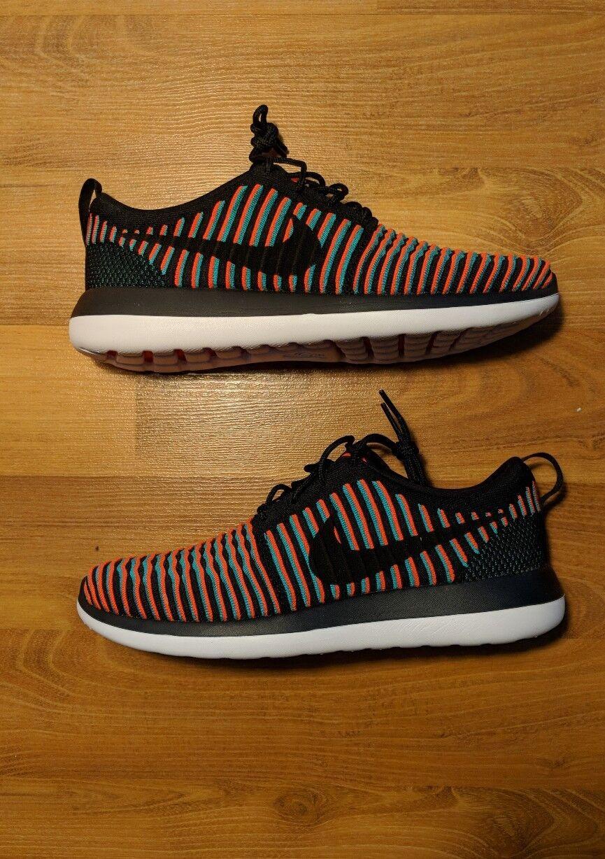 Nike Roshe Two Flyknit Bright Crimson/Jade 844833 003 US 8