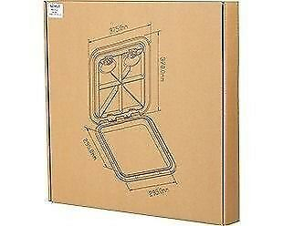 "WHITE 510mm x 460mm SEAFLO MARINE BOAT DECK ACCESS HATCH /& LID 20/"" X 18/"""