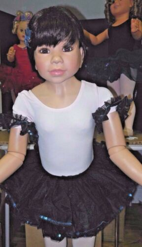 NWT Wolff Fording Sequin Tutu w//sleeves and FLower $18 tchr price BlackTurquoise