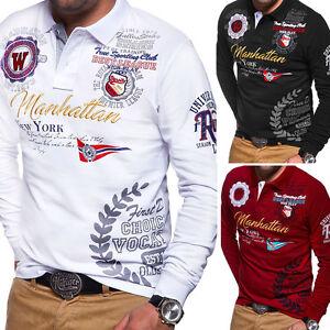 BEHYPE-Herren-Poloshirt-Longsleeve-Polo-T-Shirt-Pullover-Langarmshirt-NEU