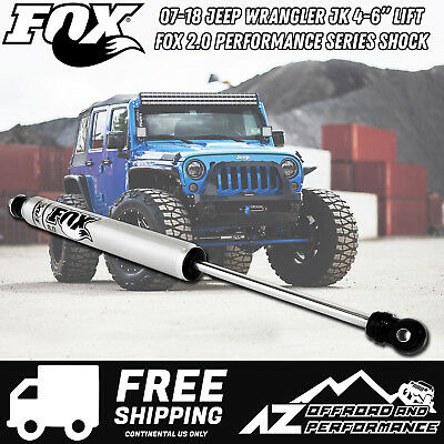 Fox 2.0 Performance Series Smooth Body IFP Stabilizer for 07-18 Jeep Wrangler JK