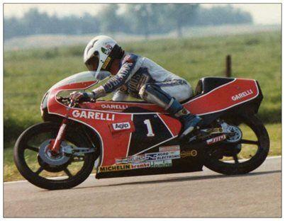 post card Garelli Grand Prix 125 #1 Angel Nieto  Dutch TT Assen 1983