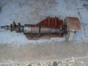 Vintage Belt Driven Blacksmith Bench Grinder Tool 2