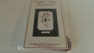 Crafter's Pride Counted Cross Stitch Kit The Rose Acrylic Switchplate -  NEW!!