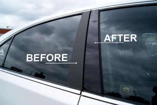 Fits Audi A4 09-12 Black B-Pillars Glossy Piano Window Post Trim SS R41
