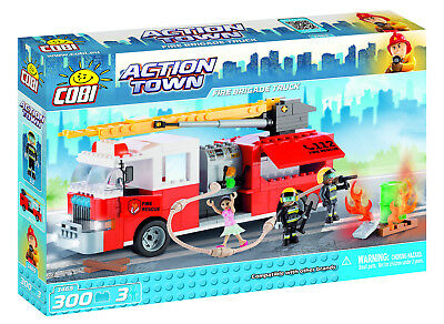 Cobi Action Town /'Fire Brigade Truck/' 300 Pieces /& 3 Figures Item #1465