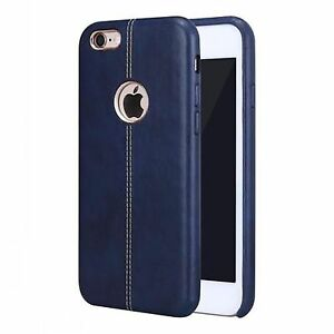 New VorSon Double Stitch Leather Shell Back Case for Apple iPhone 6/ 6S BLUE