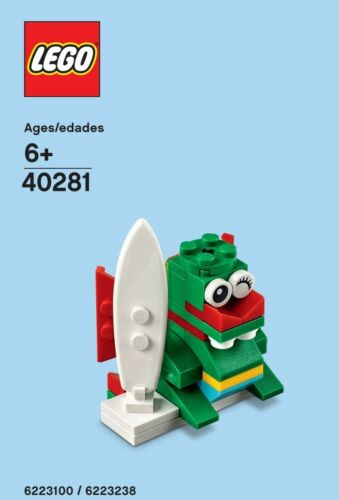 LEGO Bau- & Konstruktionsspielzeug LEGO Monthly Build for June 2018 Surfer Dragon Poly Bag 40281 New & Sealed