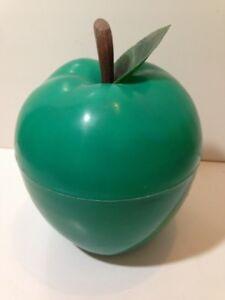 BAC-a-Glacons-Pomme-verte-avec-feuille-Seau-a-glace-an-70-039-s-nov29C