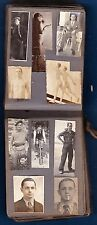 rare 93 photo vintage pocket album & address book of gay boy c 1935 nude France