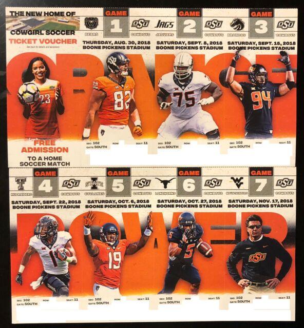 2018 Oklahoma State Cowboys Football Collectible Ticket ...