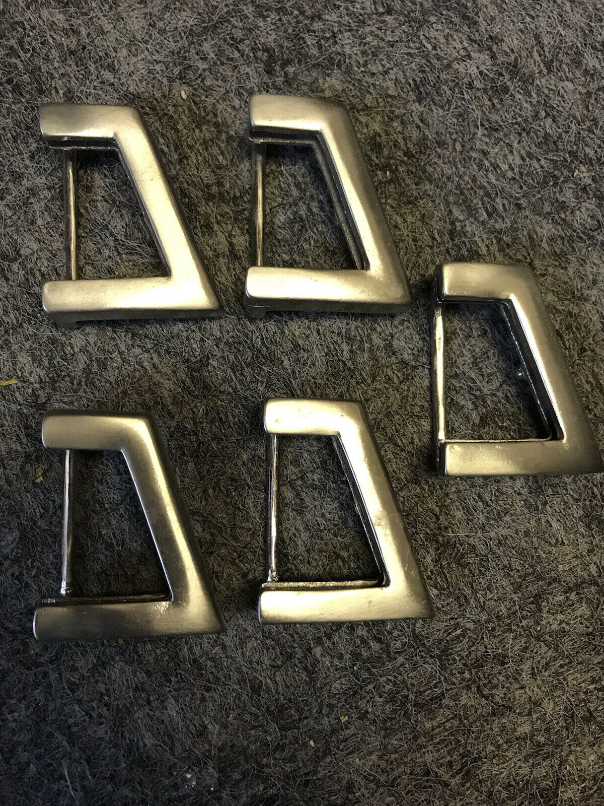 Silver Coloured Belt Buckles X5