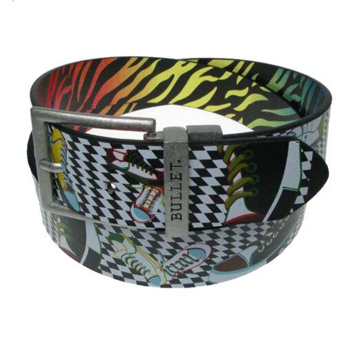 40mm design stampato IN METALLO DOUBLE trasformando Fibbia Cintura in tutte le taglie
