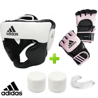 adidas Pink MMA Boxing Training Set! Headguard, Gauze & Mouthguard | eBay