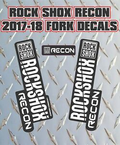 DH blue white Rockshox Recon 2017-18 Style Fork Sticker Decal Graphics Enduro
