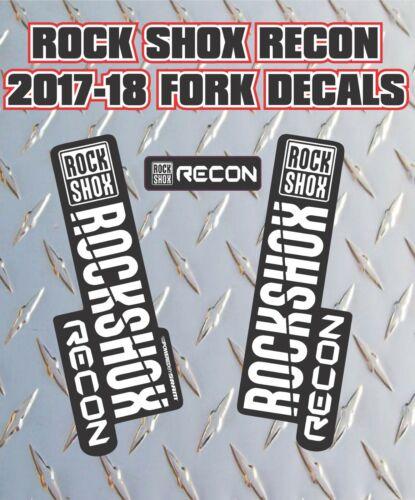 Blanc Rockshox Recon 2017-18 Style Fourche Autocollant Décalque Graphique Enduro DH