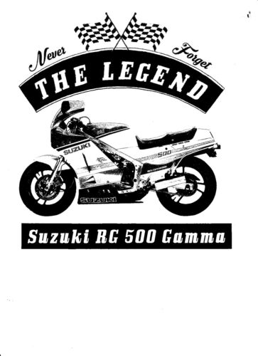 T-shirt Moto Bike Oldtimer Youngtimer Suzuki Rg 500 Gamma