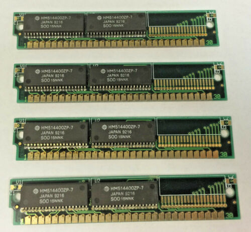 1MB 30pin SIMM 80ns RAM 4MB Memory Apple Macintosh 4MB 4pcs per lot