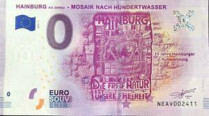 BILLET-0-EURO-HAINBURG-MOSAIK-NACH-HUNDERTWASSER-AUTRICHE-2019-1-N-DIVERS